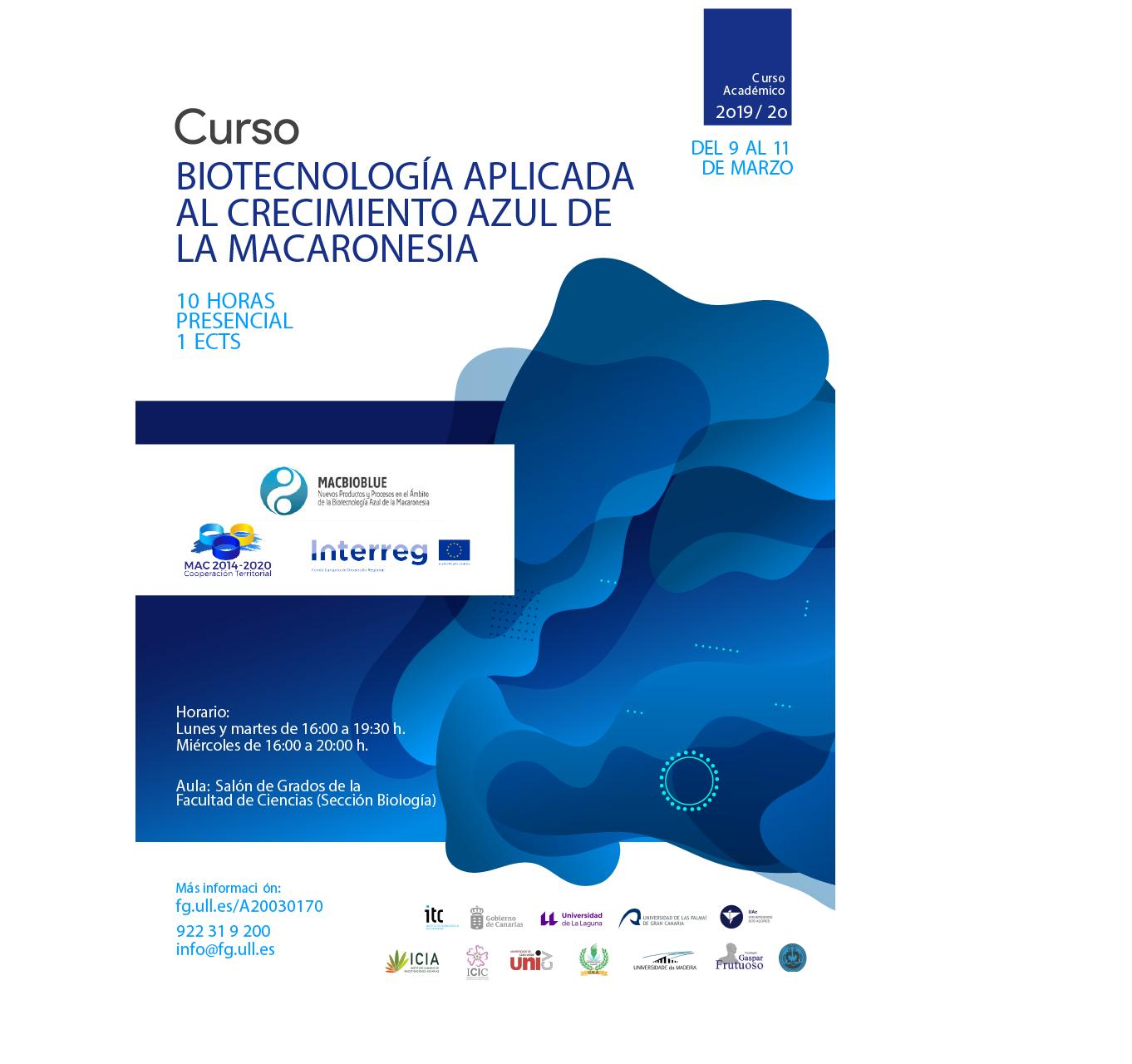 Curso Biotecnología aplicada al crecimiento azul de la Macaronesia